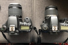 Links de 90D, rechts de 60D