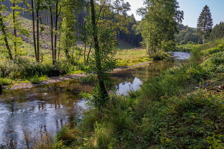de rivier de Ourthe