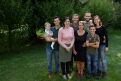 Familie Roest kwam gezellig langs