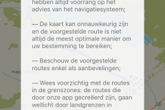 Melding op navigatie app