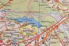 De Belarussische wegenkaart