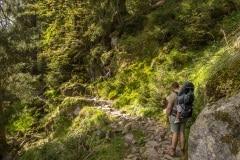 """Sentier Des Roches, of zoals iemand op tripadvisor zegt: """"Absoluut mooie vergezichten maar wat een pad. Leuk als je levensmoe bent of hoefjes hebt."""""""